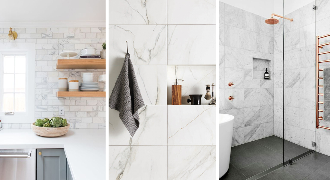 Marble and natural stone tiles